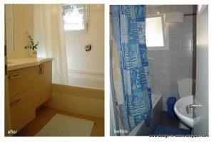 שיפוץ אמבטיה - לפני ואחרי