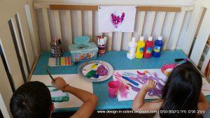 עיצוב שולחן יצירה לילדה