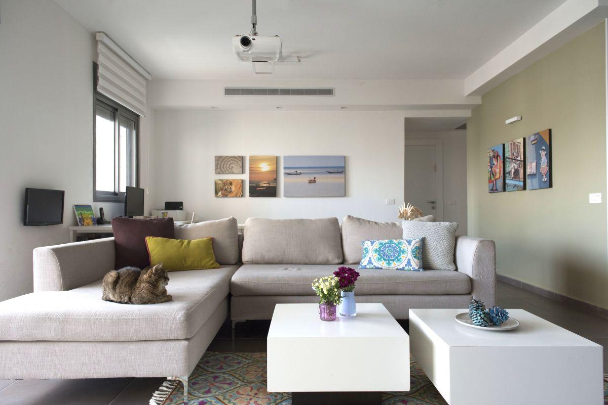 דירה עם נגיעות צבע