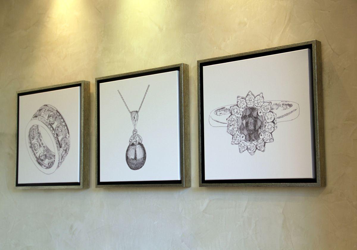 עיצוב חנות תכשיטים מנדי'ס