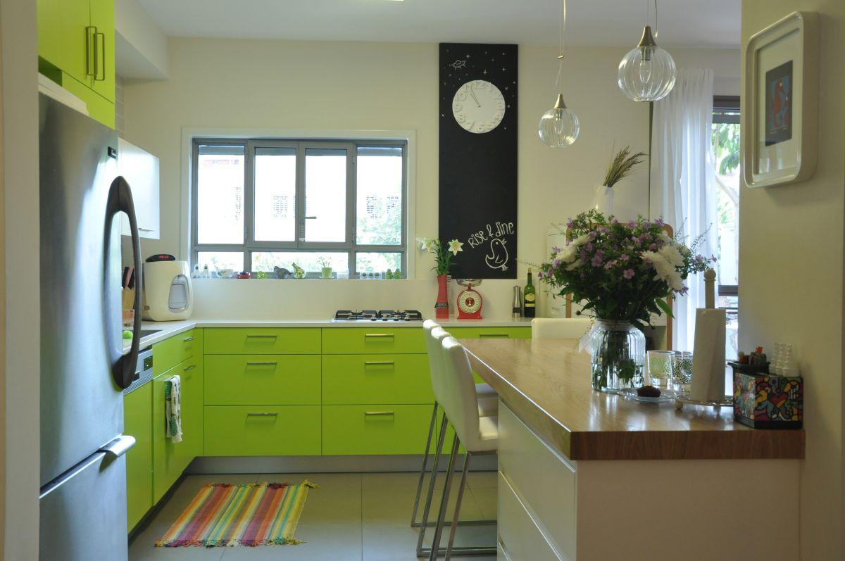 עיצוב מטבח ירוק