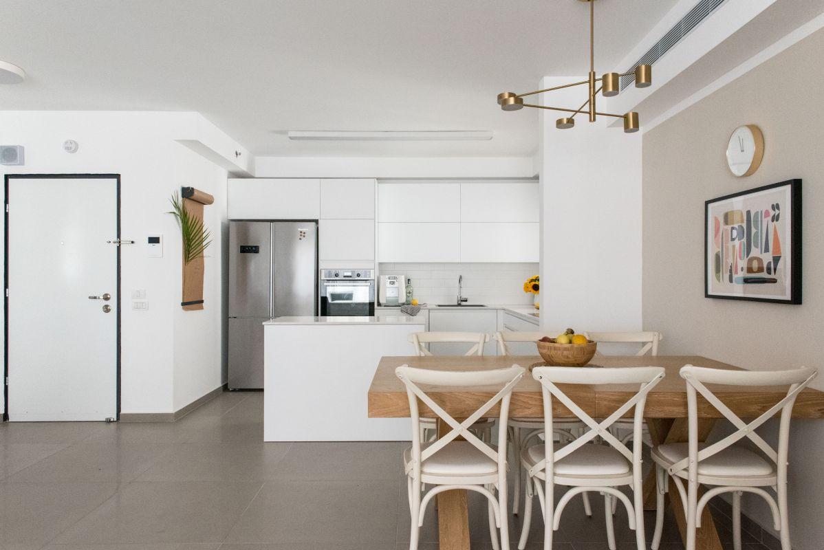 עיצוב דירה - פינת אוכל ומטבח