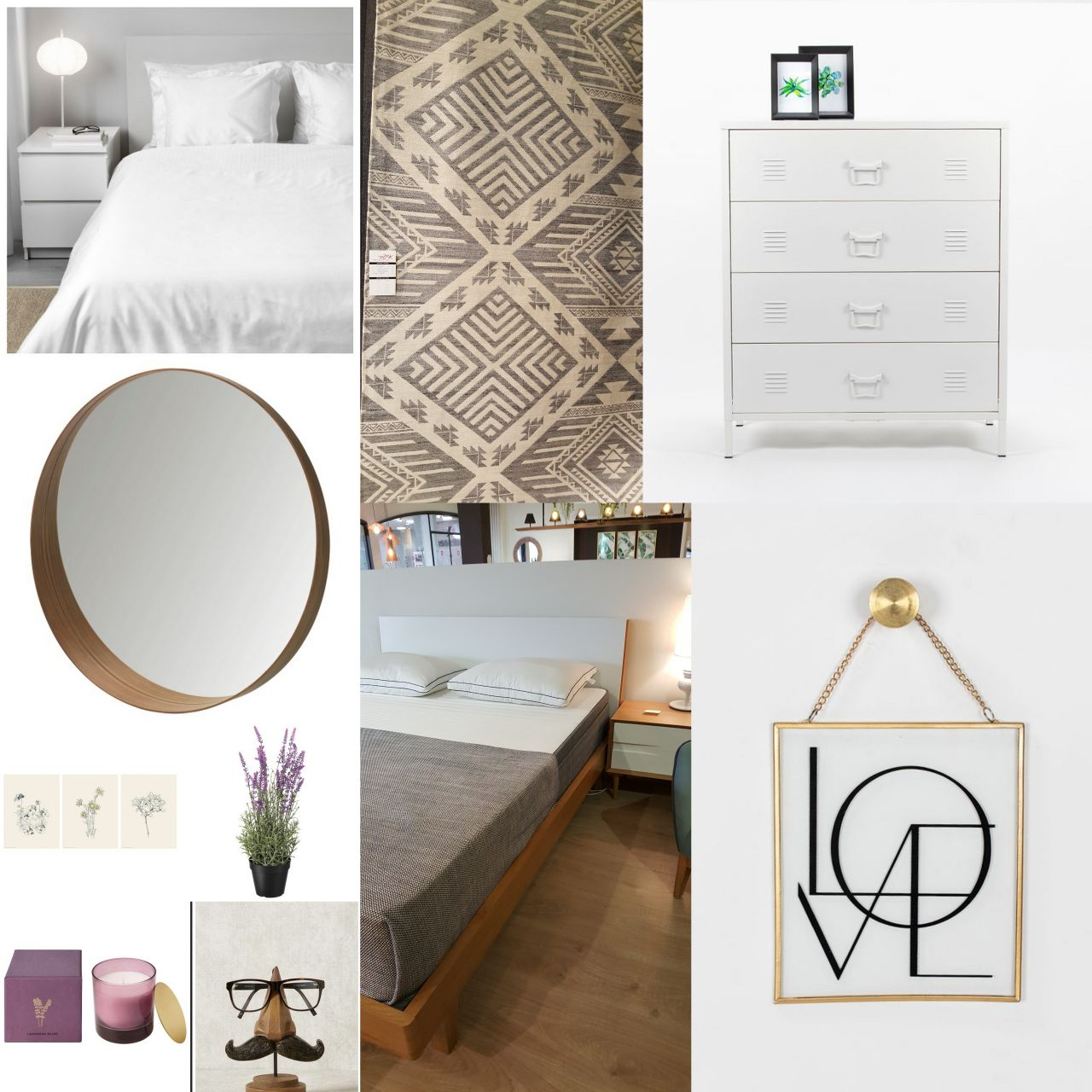 לוח השראה לעיצוב חדר שינה