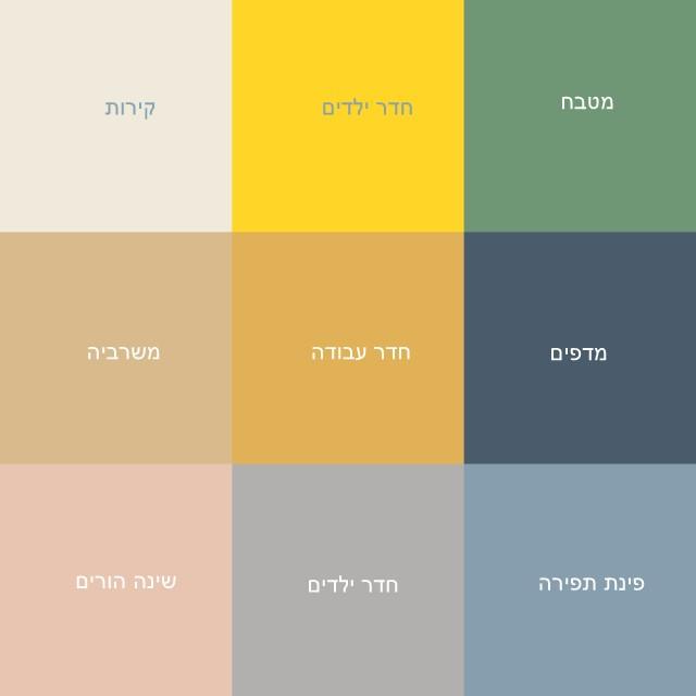 בחירת צבעים לדירה